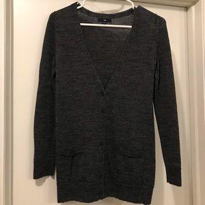 GAP charcoal grey wool cardigan, XS.